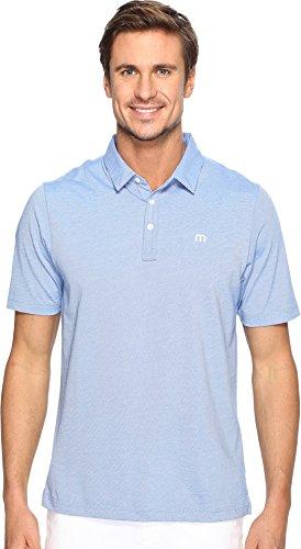 Dry Pima Polo - TravisMathew Men's The Zinna Polo Strong Blue Large