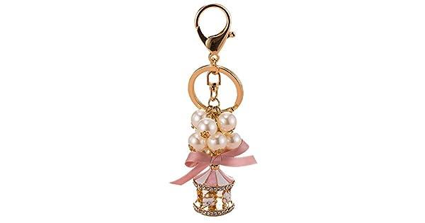 Amazon.com: Akabsh - Llavero con cadena de perlas, diseño de ...