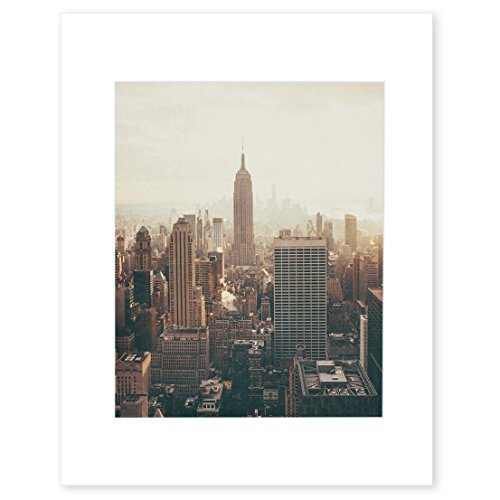 New York City Wall Art, Manhattan Skyline NYC Decor, Empire State Building Picture, 8x10 Matted Photographic Print (fits 11x14 frame), 'Empire State' by Offley Green