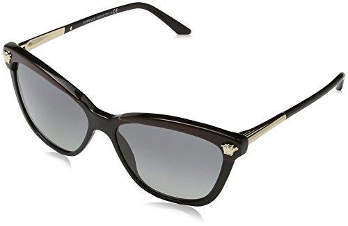 Versace VE4313 5180/11 Black / Brown VE4313 Cats Eyes Sunglasses Lens - Eye Versace Sunglasses Cat
