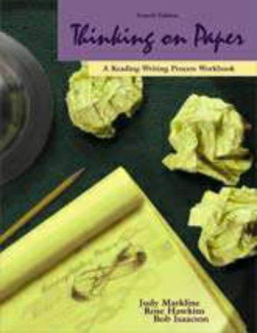Reading-Writing Process Workbook (Writing Process Workbook)