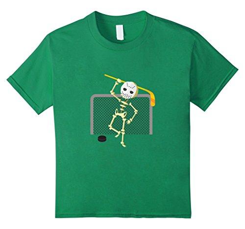 Kids Funny Goalie Mask T-Shirt Hockey Player Halloween Gift Shirt 8 Kelly (Girl Hockey Player Halloween)