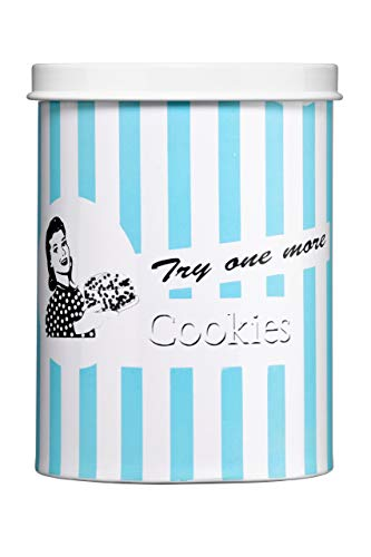 Premier Housewares Candy Stripe Cookie Canister - Blue
