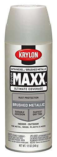 Satin Nickel Paint - Krylon K09195000 COVERMAXX Spray Paint, Brushed Metallic Satin Nickel, 11 Ounce