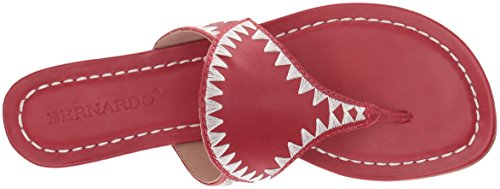 Calf Women's Bernardo Wedge Gabi Red Sandal Antique TxBYvdq