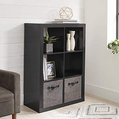 Better Homes and Gardens.. Bookshelf Square Storage Cabinet 4-Cube Organizer (Weathered) (White, 4-Cube) (Solid Black, 6-Cube)