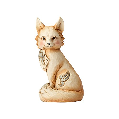 - Enesco Jim Shore Heartwood Creek White Woodland Fox Stone Resin Figurine