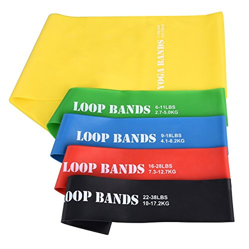 Cymas Resistance Loop Band Set, with 4 Exercise...