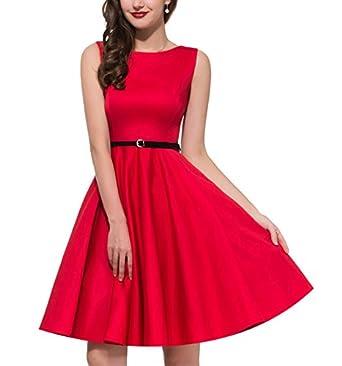 23d227cc7f2d5 Coumll Women Plus Size Audrey Hepburn Floral Robe Retro Swing Casual ...
