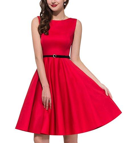 f9d93b2de4 Coumll Women Plus Size Audrey Hepburn Floral Robe Retro Swing Casual ...