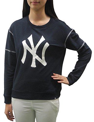 NY YANKEES - Team Logo Womens Athletic Pullover Sweatshirt L Dark Blue