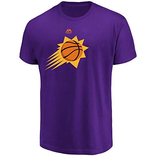 Majestic Phoenix Suns Men's Team Primary Logo T-Shirt Purple (Large) (Phoenix Suns T-shirt)