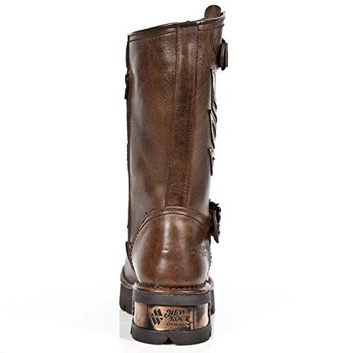 New Rock M.1613-S1 Neo Biker Men's Brown Leather Boots Brown i9qlDdcMZ