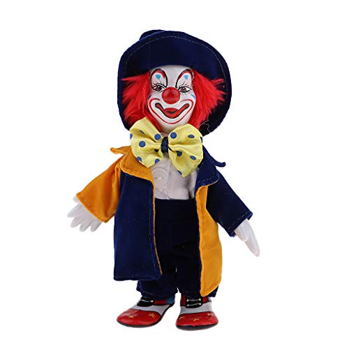 Prettyia Porcelain Clown Doll for Kids Birthday Gifts Halloween Christmas Decoration #1 -