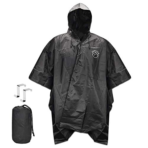 SUNGJAM Rain Poncho with Travel Pouch | Two Over Door Metal Hooks for Drying by SUNGJAM (Image #7)
