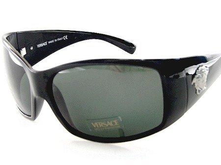 New Versace 4055 Gb1/87 Sunglasses 63-14-120 Grey Lens Black