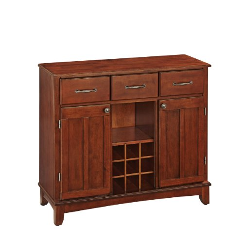 Buffet of Buffets Medium Cherry with Wood Top by Home Styles