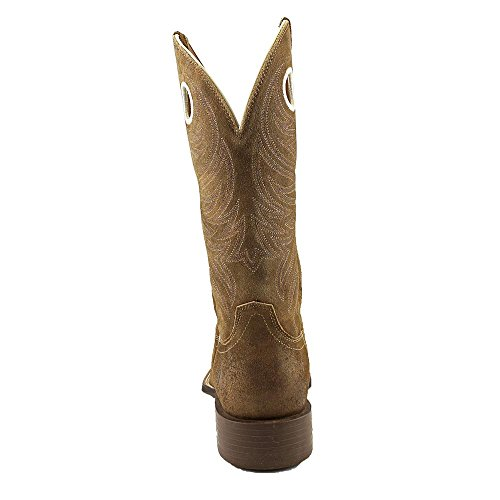 Ariat Mens Sport Rider Wide-toe Western Cowboy Boot Anitque Moka In Pelle Scamosciata