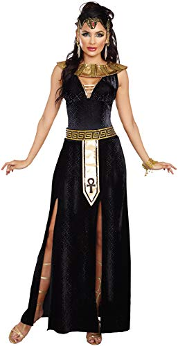 Dreamgirl Women's Exquisite Cleopatra Costume, Black/Gold,