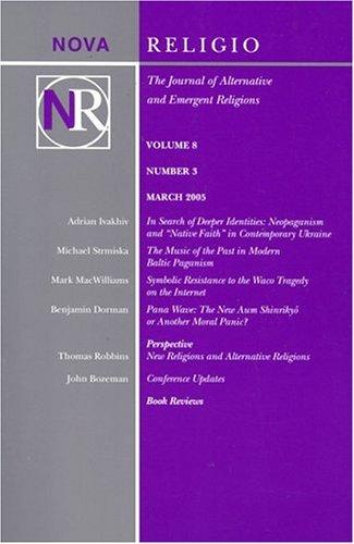 Nova Religio PDF