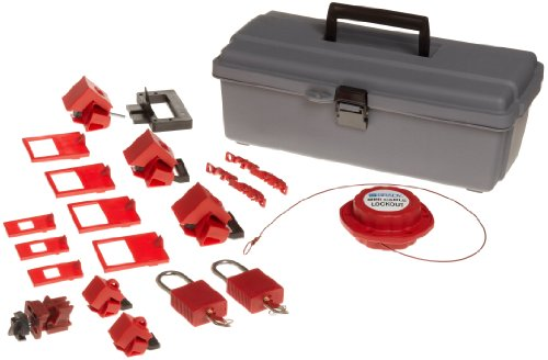 Brady Breaker Lockout Toolbox Kit, Includes 2 Safety Padlocks and 2 Tags by Brady