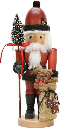 (German Christmas Nutcracker Santa Claus with Teddy - 44,5 cm / 18 inch - Authentic German Erzgebirge Nutcrackers - Christian Ulbricht )