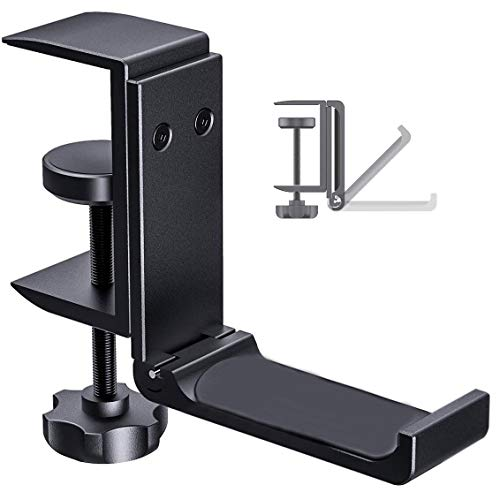Foldable Headphone Stand Hanger Under Desk Clamp Save Space Metal Headphone Headset Holder for Universal Headphones PS4…