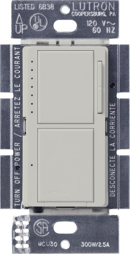 - Lutron MA-L3S25-PD Maestro 300-Watt Single-Pole Digital Dimmer and 2.5 Amp On/Off Switch, Palladium