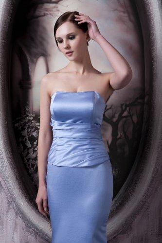 GEORGE Blau blauen Einfache Satin lange traegerlose BRIDE Abendkleid 6E0qrgwT6x