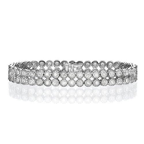 Diamond Musée bracelet jonc or blanc 18K-32,90Gr