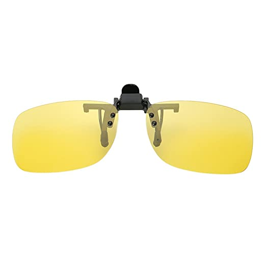 9d0d7e6563 Image Unavailable. Image not available for. Color  Polarized Clip On  Sunglasses Unisex Flip-up Sun Glasses Driving Day Night Vision Lens