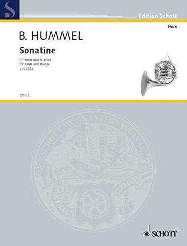 Sonatine: op. 75a. Horn und Klavier. (Edition Schott)