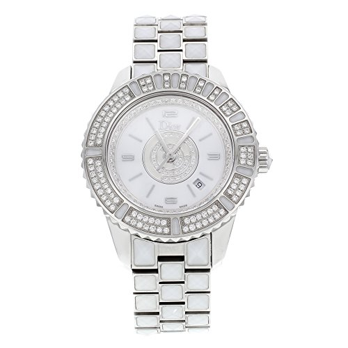 Christian Dior Women's CD11311CM001 Christal Diamond White Dial Watch
