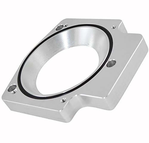 75mm - 102mm Silver Aluminum Intake Manifold Throttle Body Adapter Plate Space For LS Engines