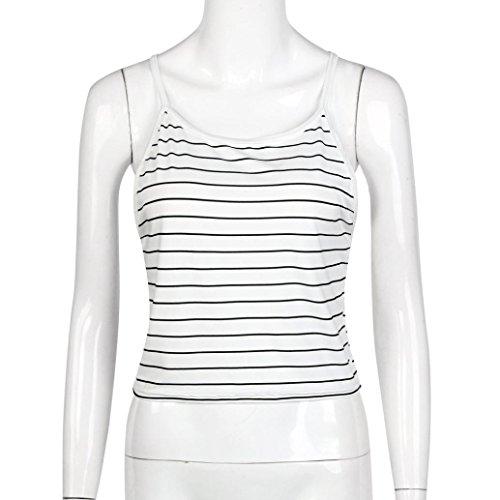 Manches T Pour Rayé 2017 shirt Sans Femme Winwintom XwTq75