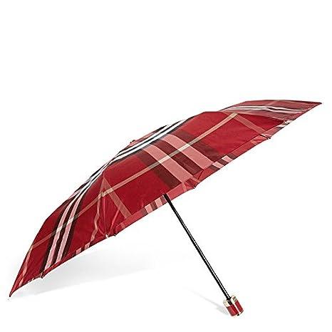 Burberry Check plegable paraguas – Parade rojo