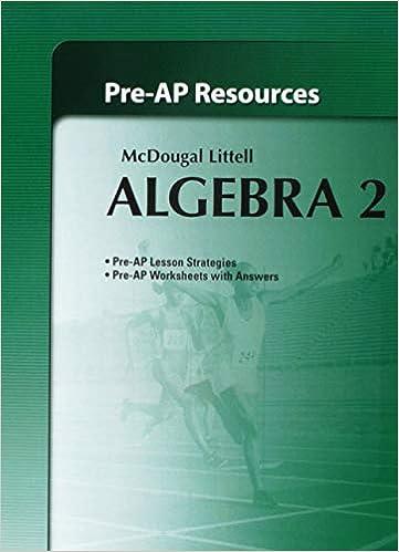 Holt McDougal Larson Algebra 2 Pre AP Resources