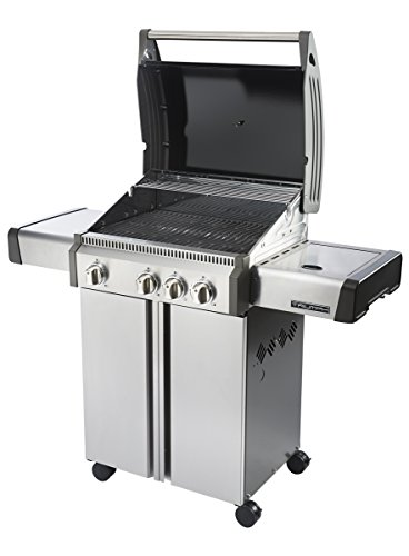 napoleon t410sbnk triumph natural gas grill with 3 burners black and stainless steel gas. Black Bedroom Furniture Sets. Home Design Ideas