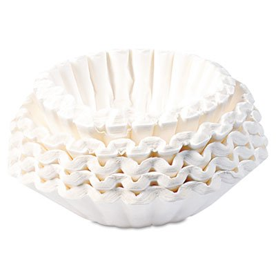 Flat Bottom Coffee Filters, Paper, 12-Cup Size