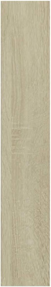 vidaXL Armoire /à CD /Étag/ère de Rangement Armoire de Stockage Meuble de Stockage Meuble de Bureau Maison Int/érieur Blanc 21x16x93,5 cm Agglom/ér/é