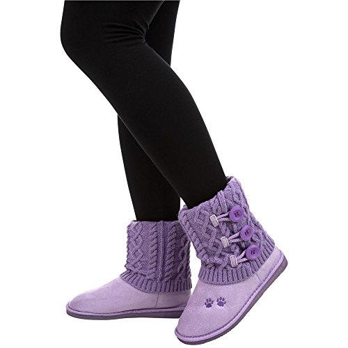 GreaterGood Purple Paw Mid Rise Knit Boots EBeNBK