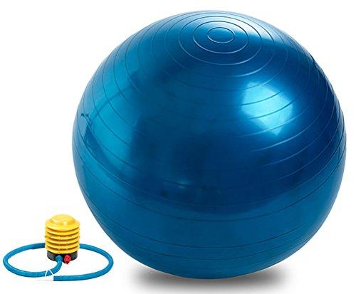 QUBABOBO Ballon de Yoga/Pilates 55/65/75/85cm Ballon de Gymnastique avec Un Pompe pour Stailiser La Balance ou Ballon de…
