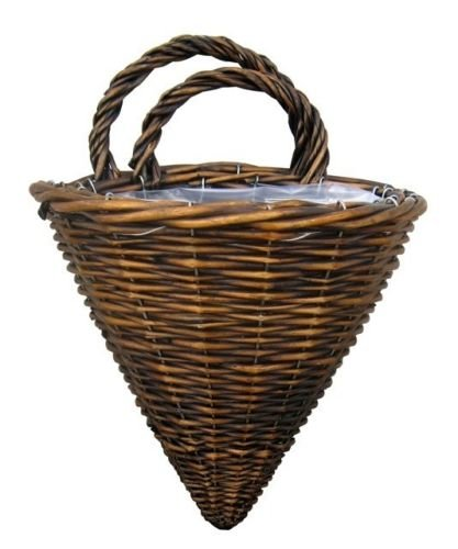 Cheung's UW-9717-2DSMK Willow Wired Set of 2 Lined Wall Basket - Dark Smoke Color, Brown ()