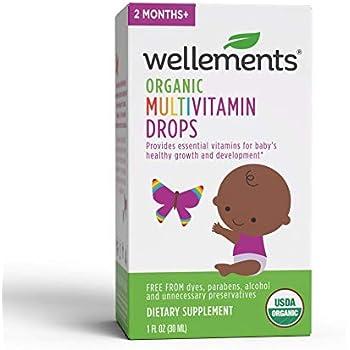 Amazon Com Wellements Organic Multivitamin Drops 1 Fl Oz