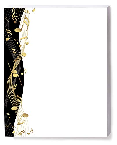 - Golden Tunes Music Themed Border Papers, 100 Count