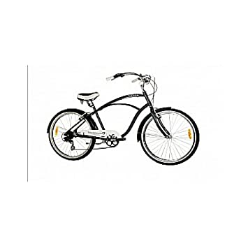 Monty Beach Cruiser 2 - Bicicleta Urbana, Color Negro/Plateado, 17 ...