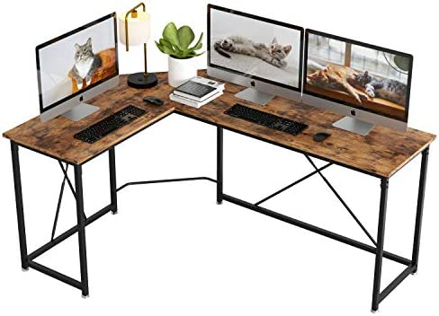 IRONCK L Shaped Desk 66″ Computer Corner Desk