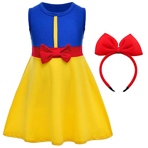 Joy Join Snow White Princess Dress Costume for Infant Toddler Girls Birthday Halloween Party with Headband 12-24Months -