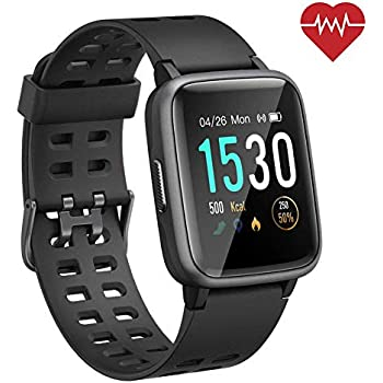 ANGGO Smart Watch for Android iOS Phones, 【2019 Version】 Smartwatch for Women Men IP68 Waterproof Fitness Tracker Watch with Heart Rate Monitor, 45 ...