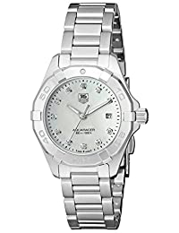 TAG Heuer Women's WAY1413.BA0920 300 Aquaracer Analog Display Swiss Quartz Silver Watch